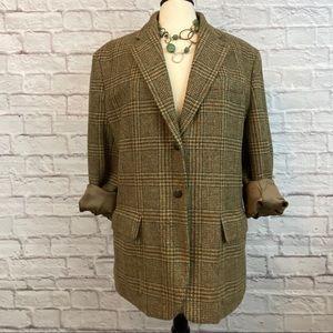 LAUREN Ralph Lauren Plaid Wool Blazer | 14W